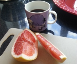 kaffe-grapefrukt